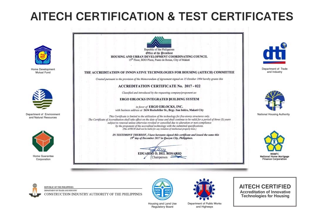 Ergo EBlocks Certifications